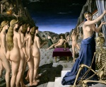 An interesting painting by P. Delvaux 1945 in the Saint Louis Art Museum.