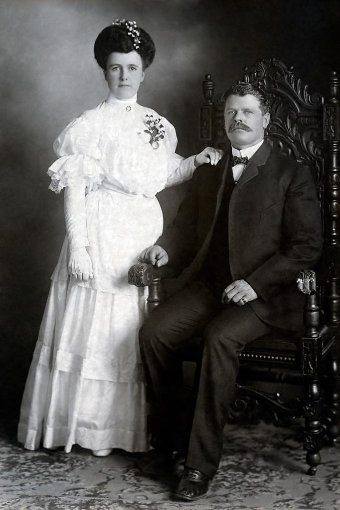 Callie Davis Frank Smelser wedding 1905
