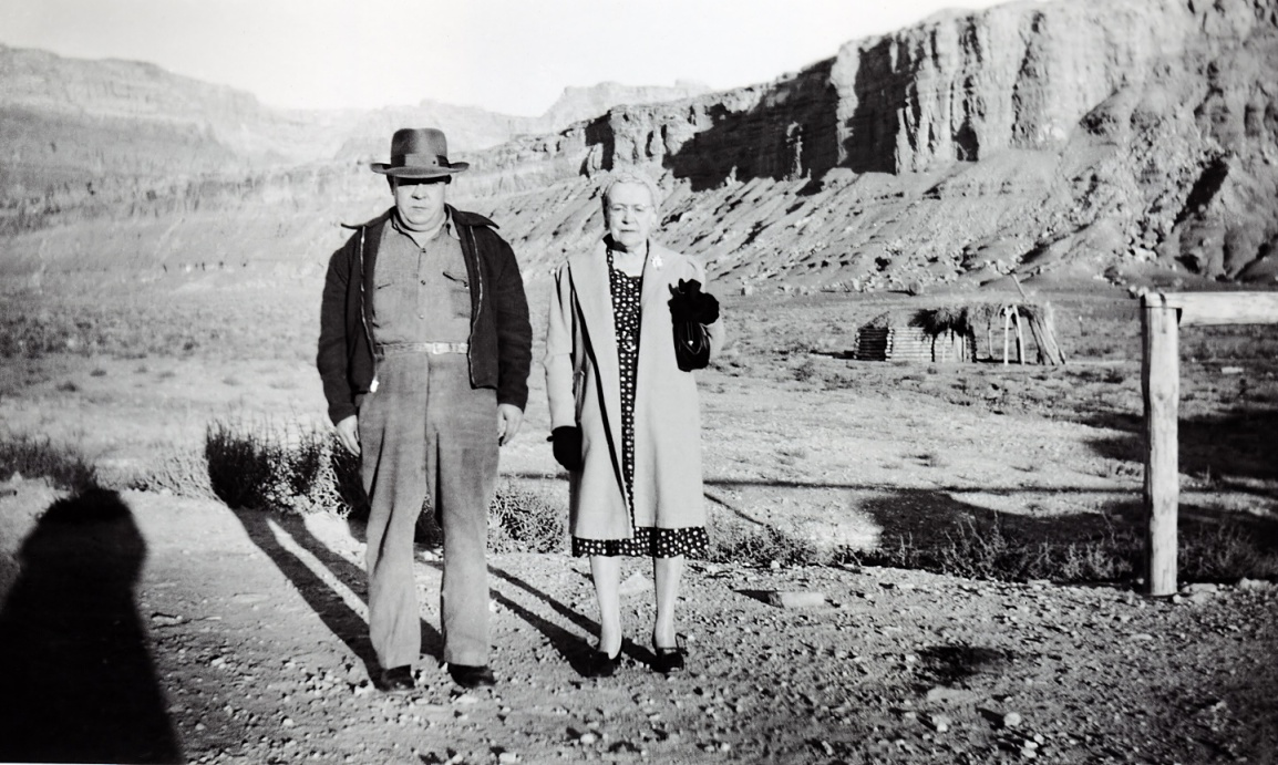 Vernon and Minnie Raver Marble Canyon Arizona 1949
